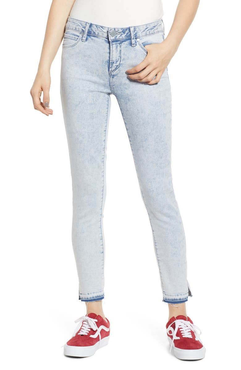 ARTICLES OF SOCIETY Suzy Release Hem Crop Jeggings, Main, color, CAICOS