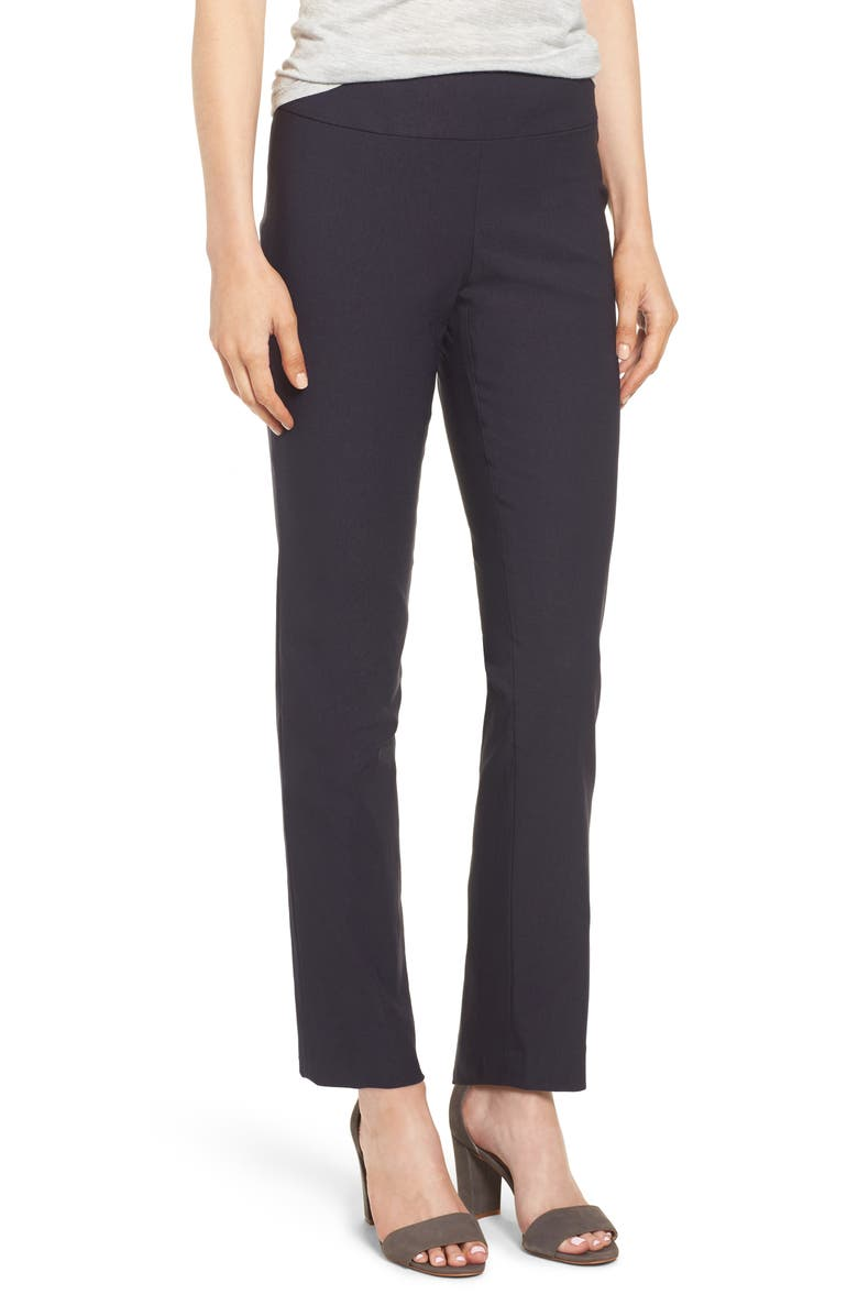 NIC+ZOE Wonderstretch Straight Leg Pants, Main, color, MIDNIGHT
