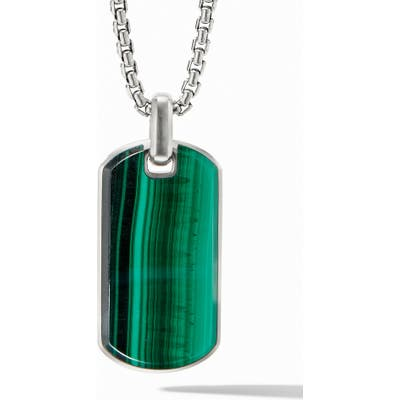 David Yurman Streamline Malachite Tag