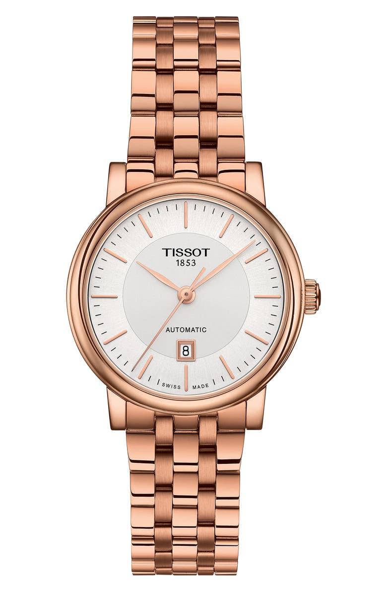 TISSOT Carson Premium Lady Bracelet Watch, 30mm, Main, color, ROSE GOLD