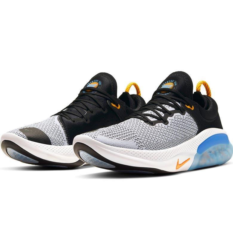 NIKE Joyride Run Flyknit Running Shoe, Main, color, BLACK/ ORANGE/ WHITE/ BLUE