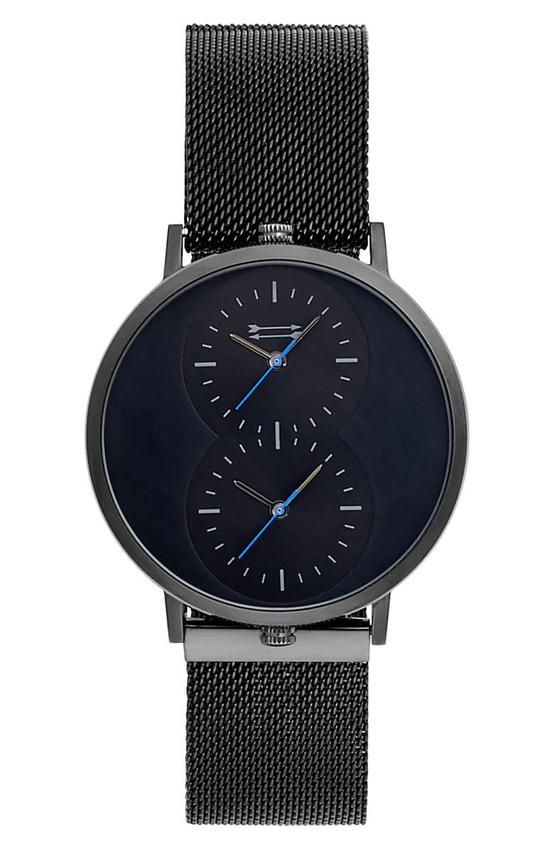 URI MINKOFF Griffith Mesh Strap Watch, 43mm, Main, color, 001