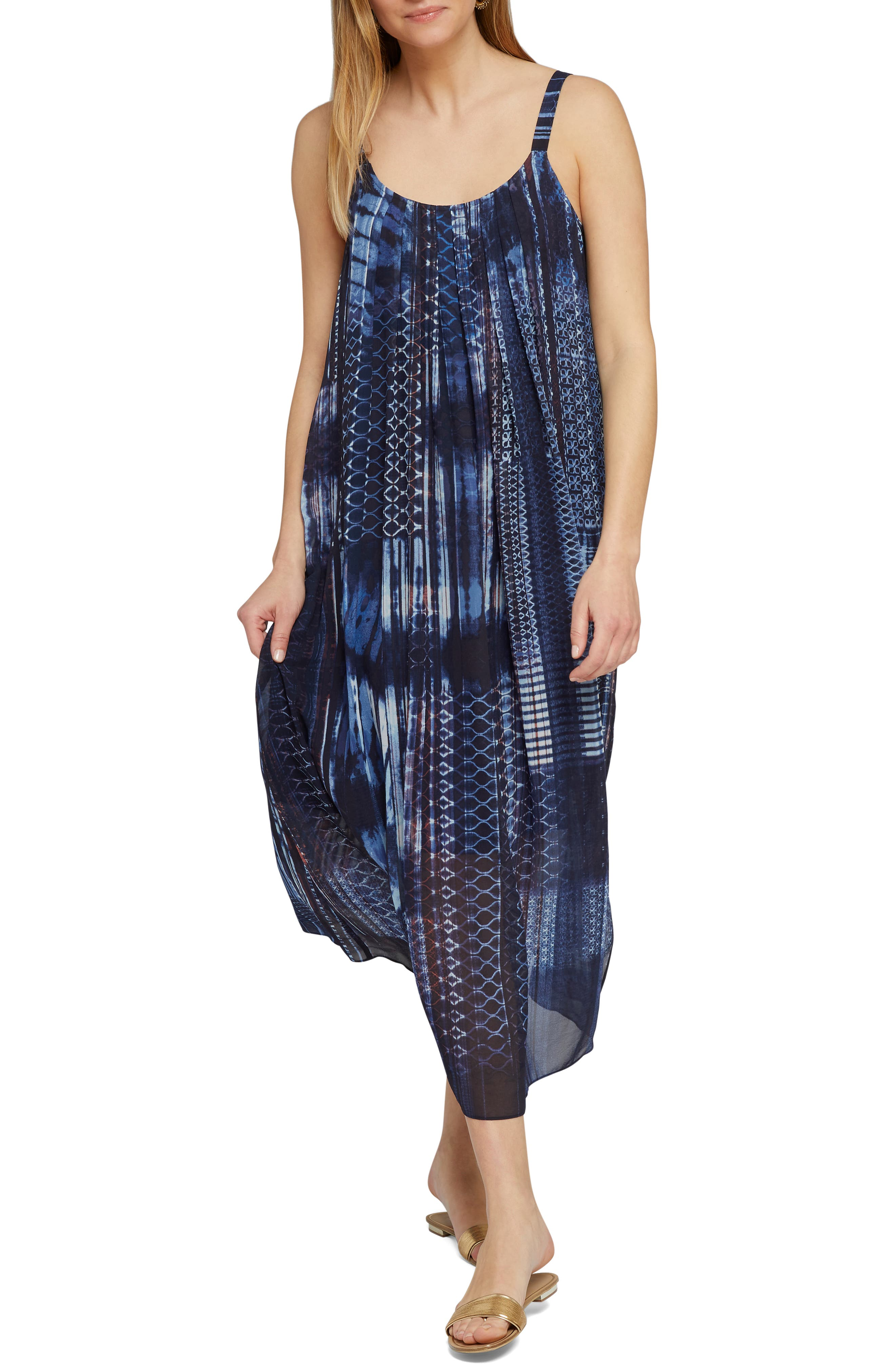 Nic+Zoe Got It Together Maxi Dress, Blue
