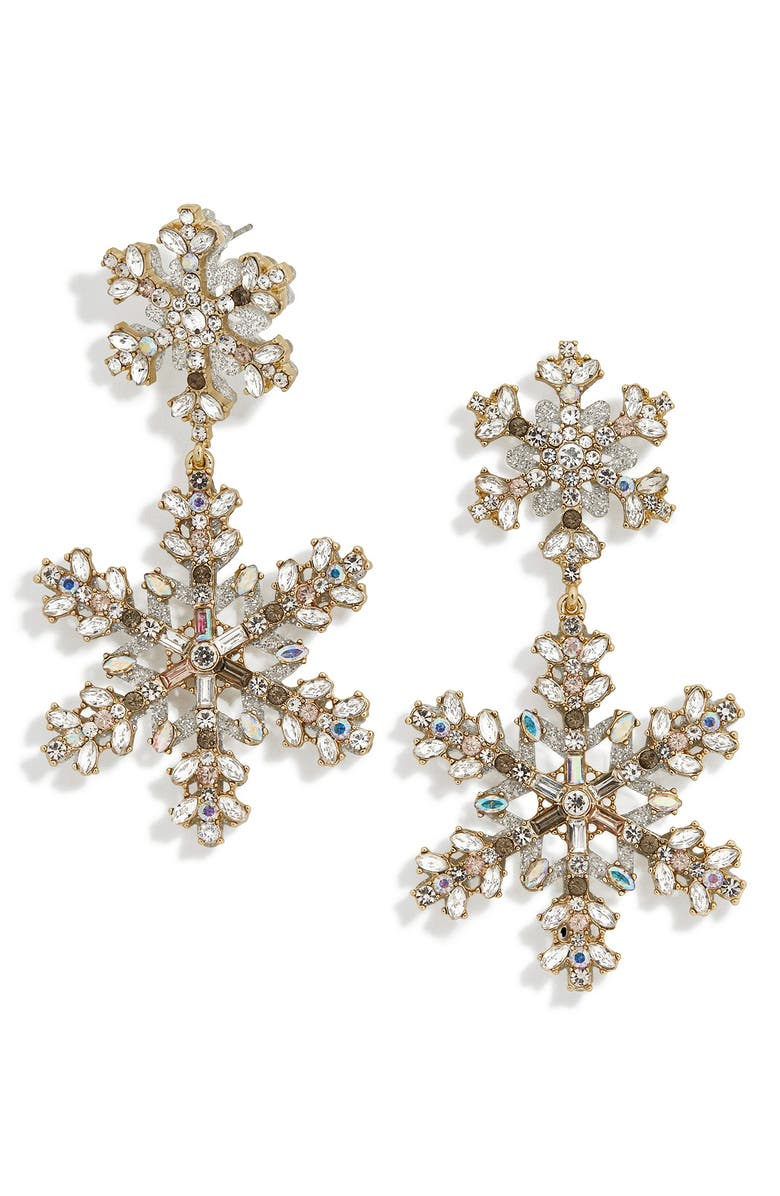 BAUBLEBAR Icicle Drop Earrings, Main, color, CLEAR/ GOLD