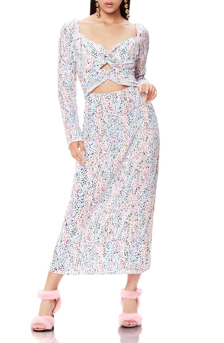 AFRM Jonael Spatter Print Long Sleeve Dress, Main, color, 179