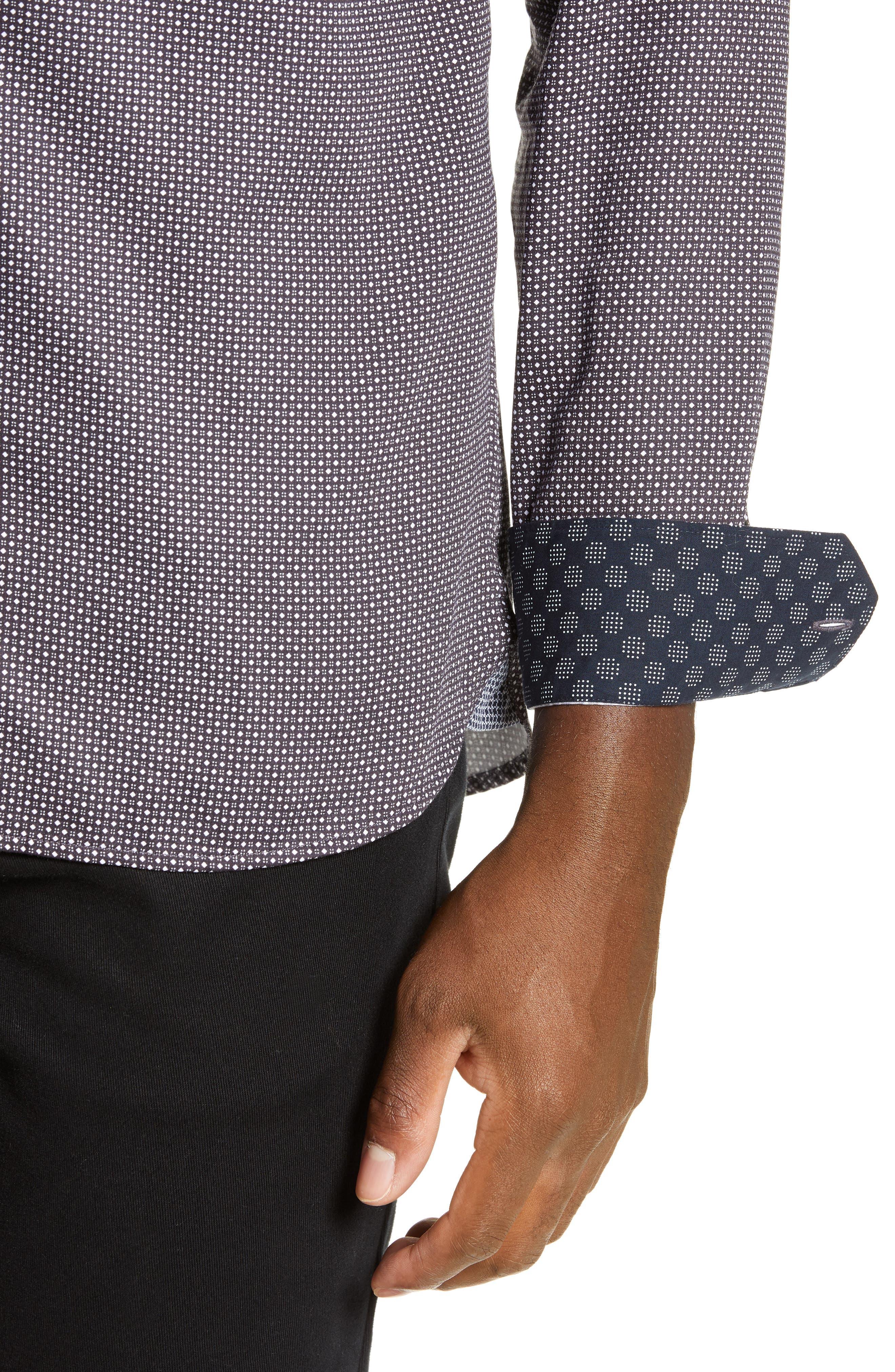 ,                             Subik Slim Fit Geo Print Sport Shirt,                             Alternate thumbnail 8, color,                             410