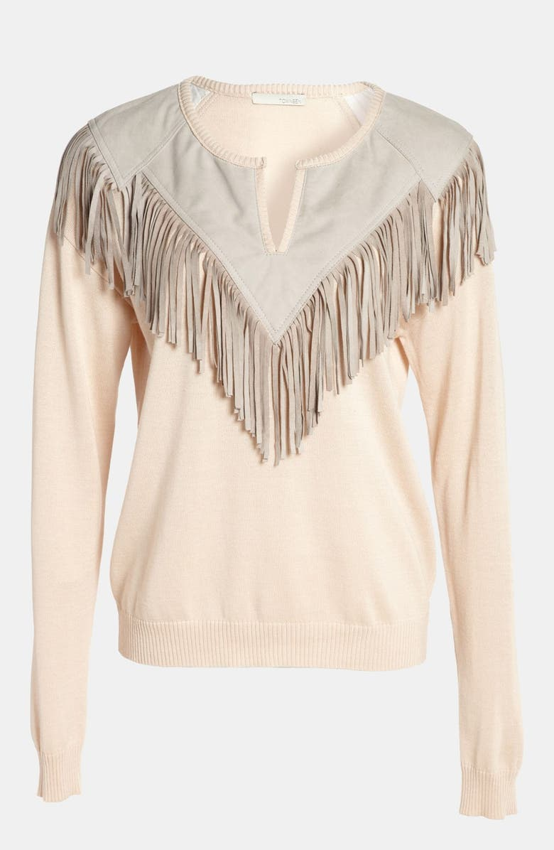 PIPER Fringe Sweater, Main, color, 650
