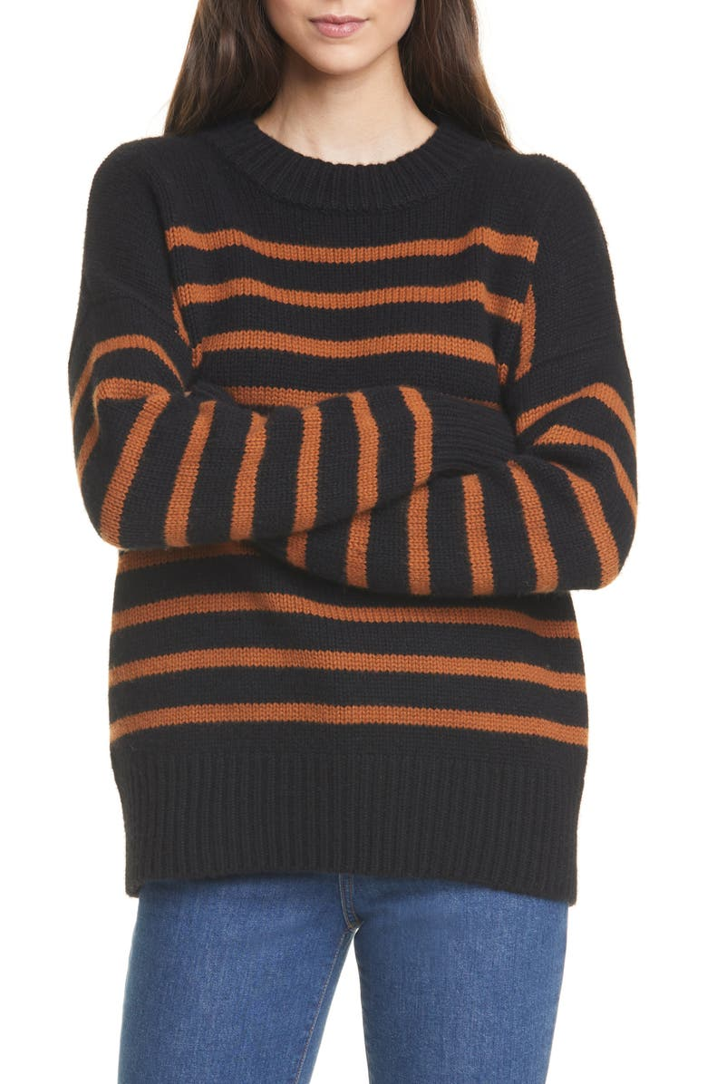 LA LIGNE Marin Wool & Cashmere Sweater, Main, color, 002