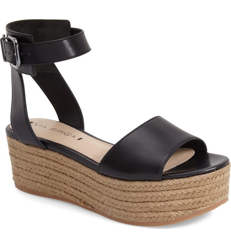 VIA SPIGA 'Nemy' Platform Sandal, Main, color, 001