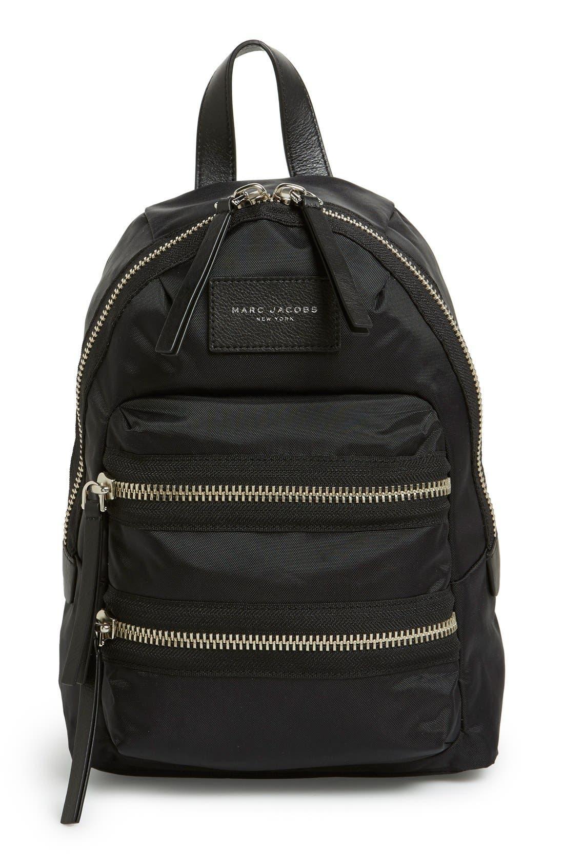 'Mini Biker' Nylon Backpack, Main, color, 001
