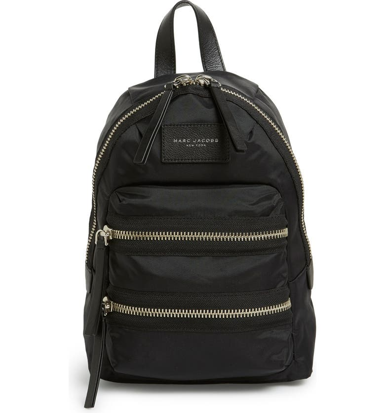 MARC JACOBS 'Mini Biker' Nylon Backpack, Main, color, 001