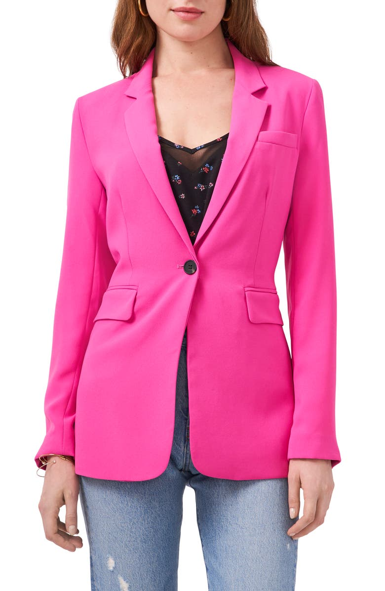 1.STATE One-Button Blazer, Main, color, BRIGHT MULBERRY