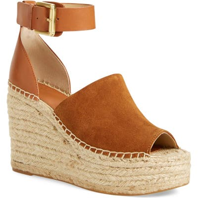 Marc Fisher Ltd Adalyn Espadrille Wedge Sandal, Brown