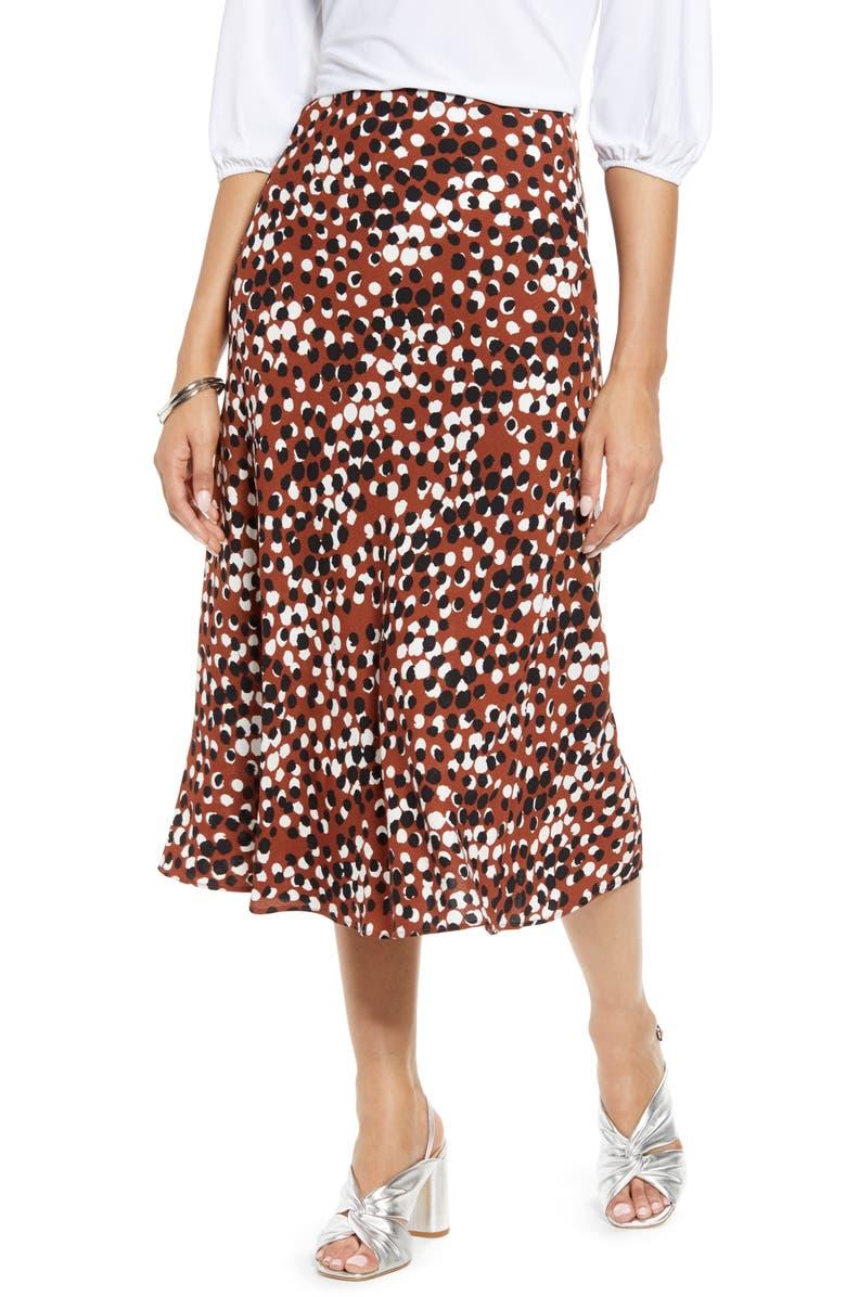 HALOGEN<SUP>®</SUP> Bias Cut A-Line Midi Skirt, Main, color, 201