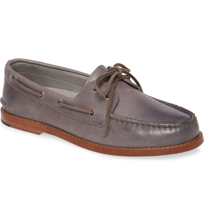 SPERRY 'Gold Cup - Authentic Original' Boat Shoe, Main, color, GREY LEATHER/ GREY