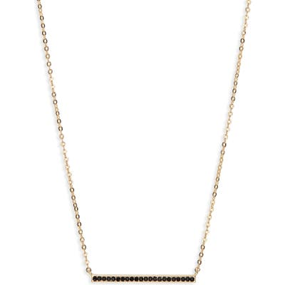 Nordstrom Pave Bar Pendant Necklace