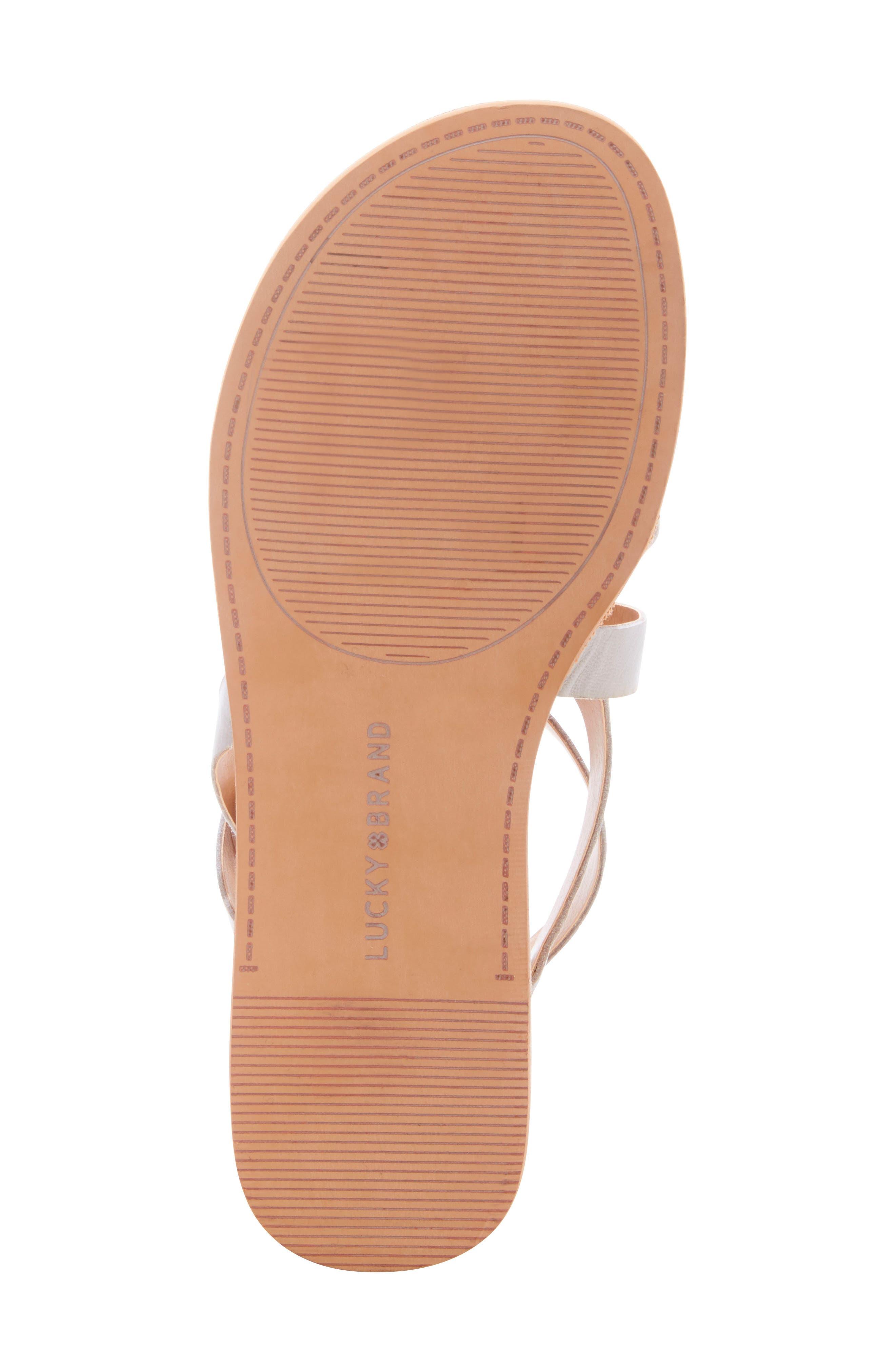 ,                             Helenka Strappy Wedge Sandal,                             Alternate thumbnail 6, color,                             CHINCHILLA LEATHER