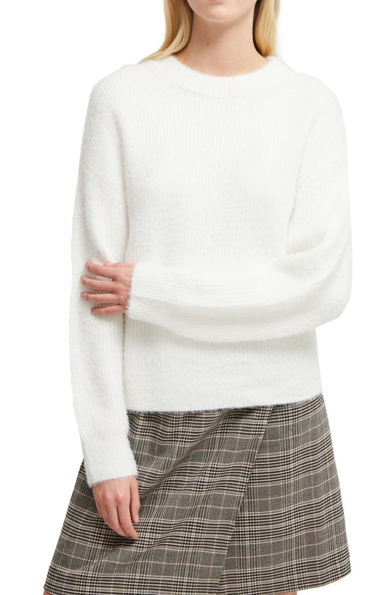 FRENCH CONNECTION Rufina Knit Sweater, Main, color, WINTER WHITE