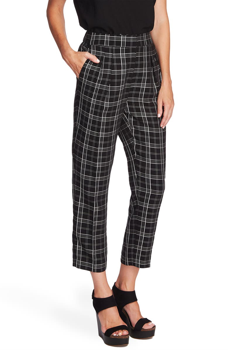 Vince Camuto Windowpane Plaid Slim Ankle Pants