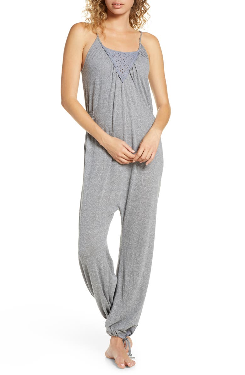 HONEYDEW INTIMATES Jersey Lounge Jumpsuit, Main, color, HEATHER GREY