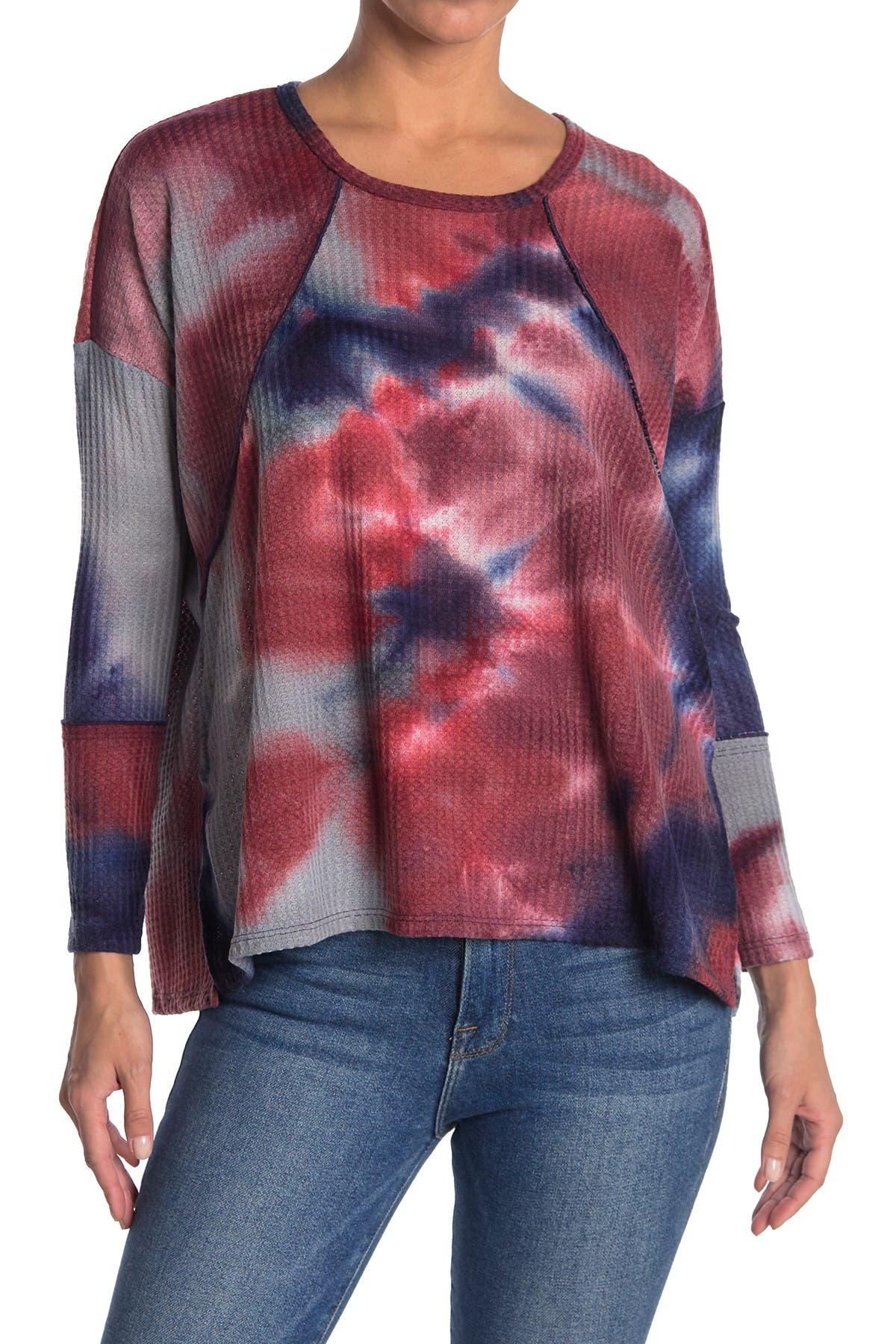 Image of Forgotten Grace Tie Dye Print Long Sleeve Thermal T-Shirt