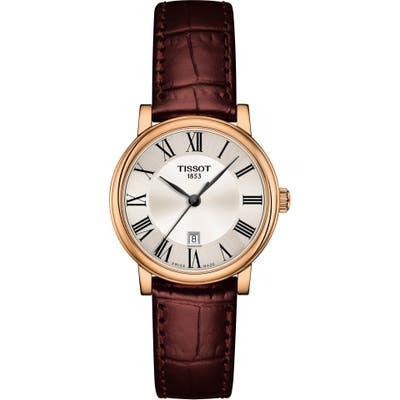 Tissot T-Classic Carson Quartz Leather Strap Watch, 30Mm