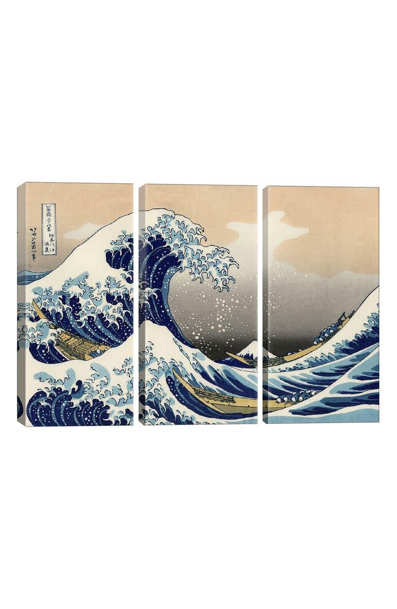 ICANVAS The Great Wave at Kanagawa 1829 Giclée Print Canvas Art, Main, color, BLUE