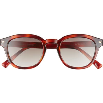 Le Specs Conga 4m Round Sunglasses - Toffee Tortoise/ Khaki
