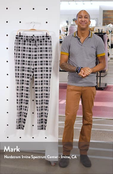 Mike Monochromatic Check Jacquard Pants, sales video thumbnail