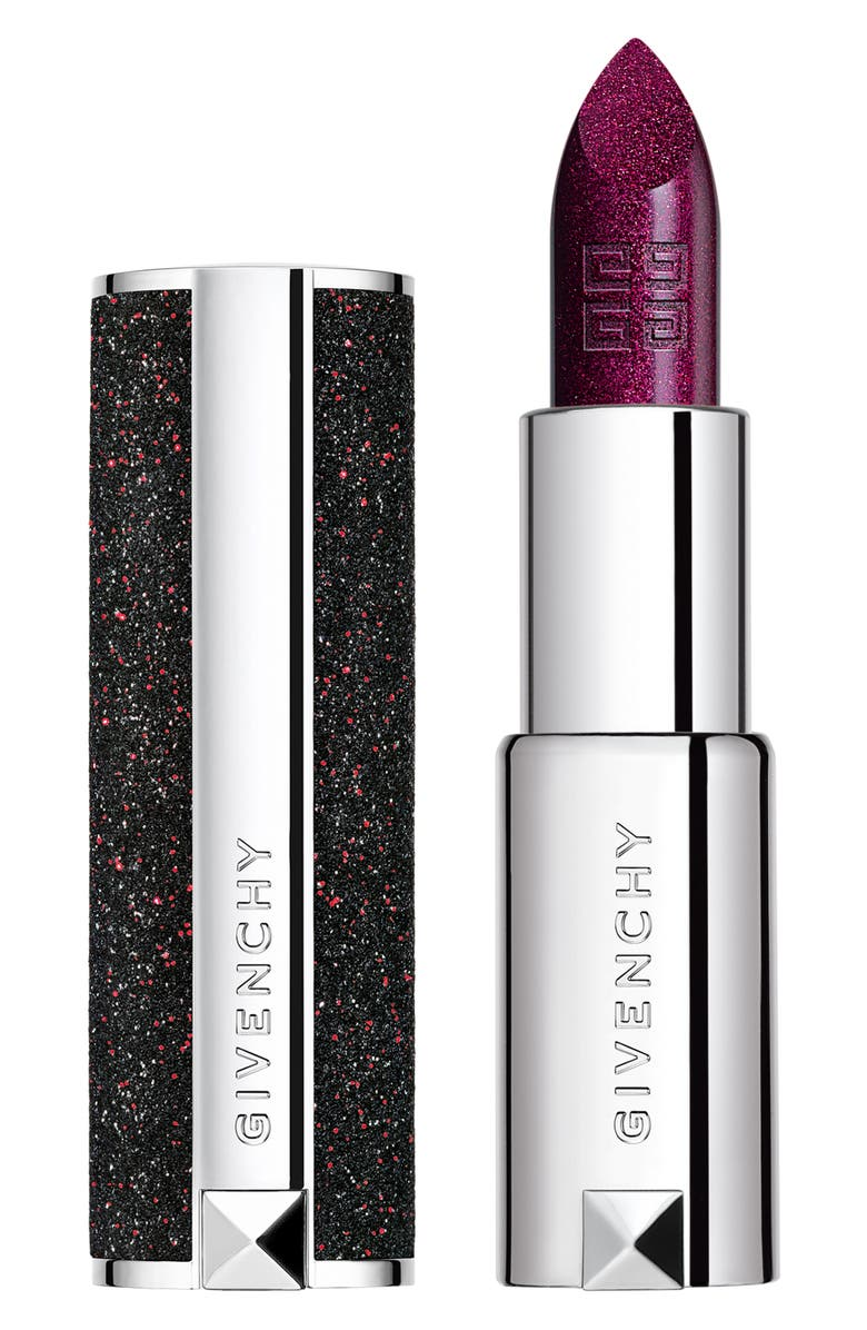 GIVENCHY Le Rouge Night Noir Sheer Sparkling Lipstick, Main, color, 5 NIGHT PLUM