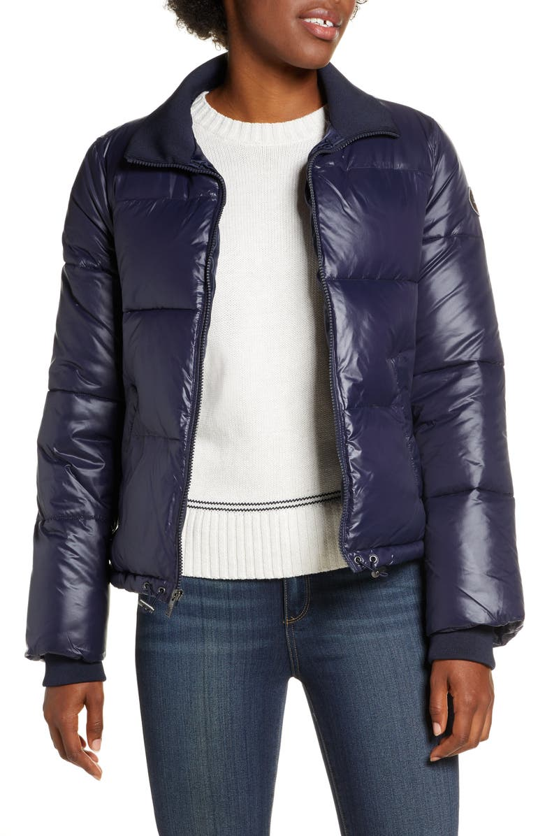 UGG<SUP>®</SUP> Izzie Water Repellent Puffer Jacket, Main, color, NAVY