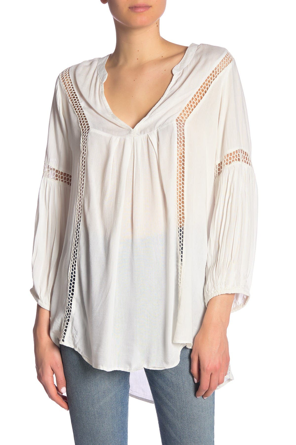Image of BOHO ME Crochet Lace Inset Cover-Up Tunic