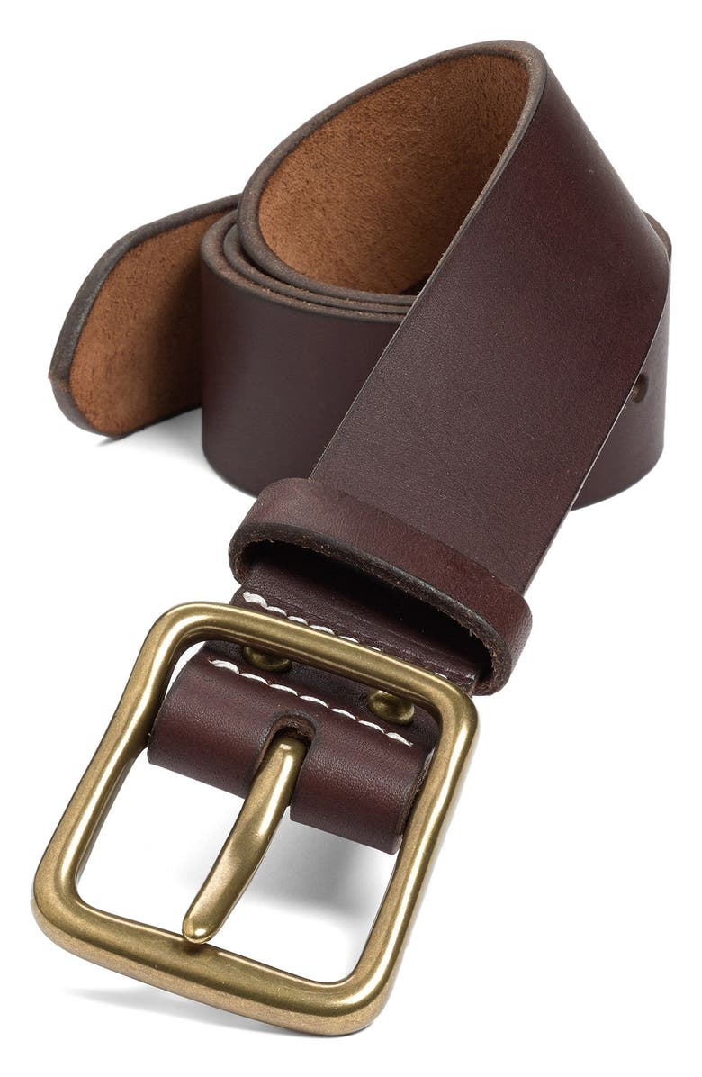 RED WING 'Pioneer' Belt, Main, color, AMBER/ BRASS