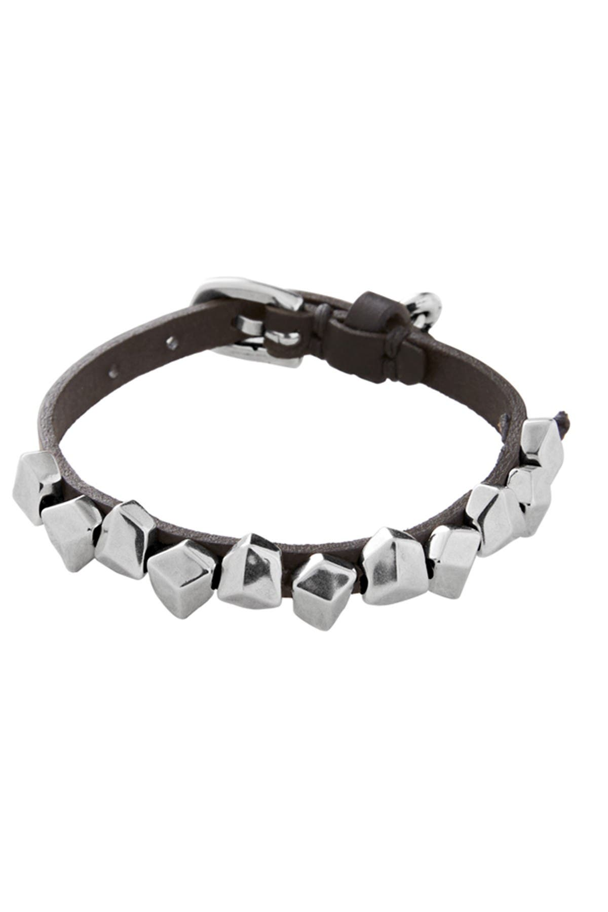 Image of Uno De 50 Ice Cubes Studded Leather Bracelet