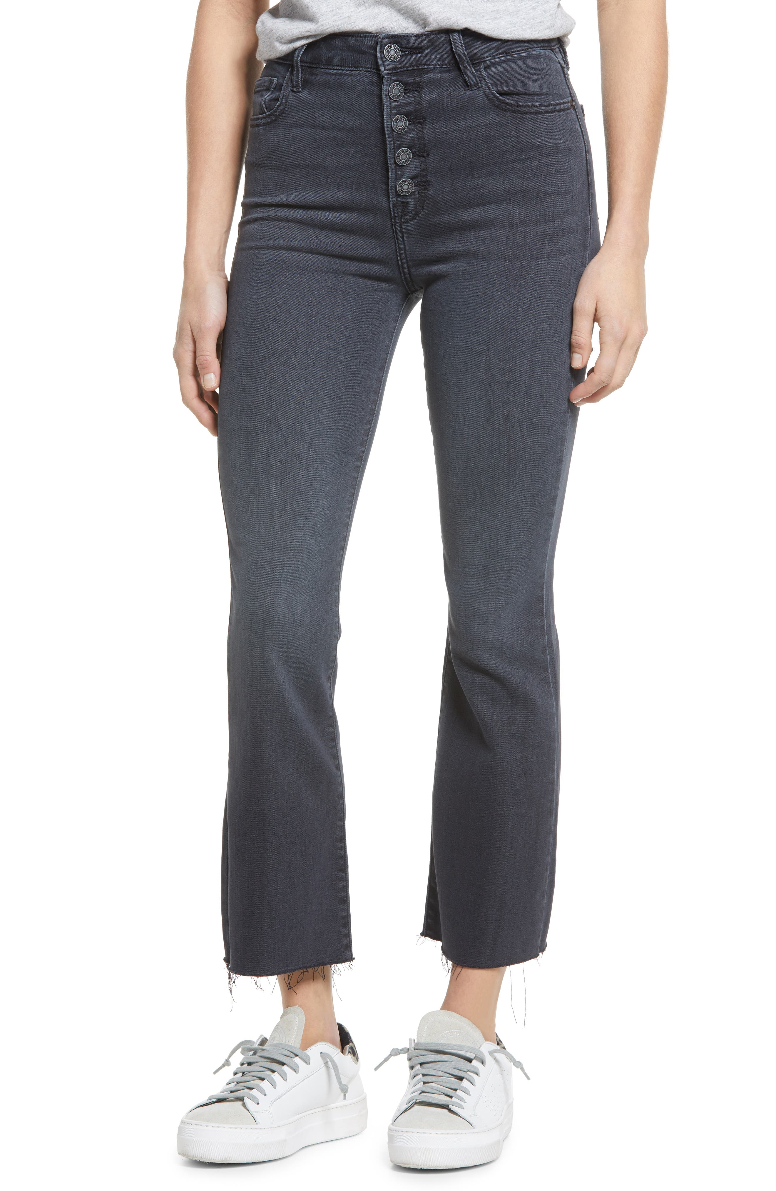 High Waist Ankle Flare Jeans