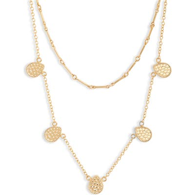 Anna Beck Ribbed Double Layer Necklace
