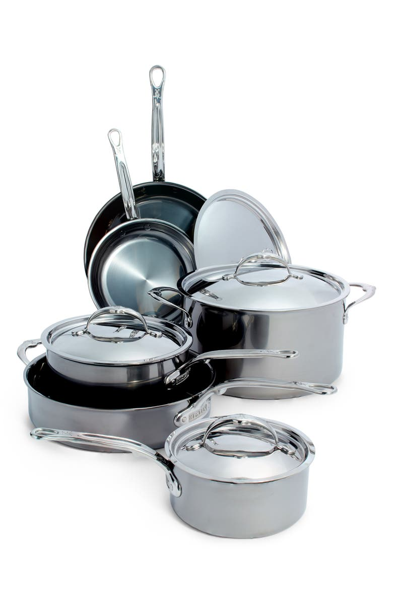 HESTAN 10-Piece Cookware Set, Main, color, STAINLESS STEEL