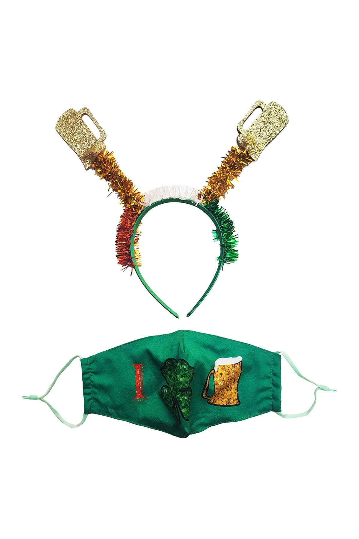 Image of Berry Let's Get Shamrocked Headband & Mask Set