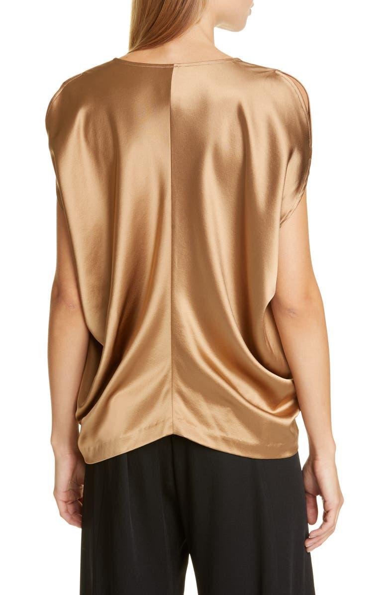 ZERO + MARIA CORNEJO Cold Shoulder Crepe Back Satin Top, Main, color, 800