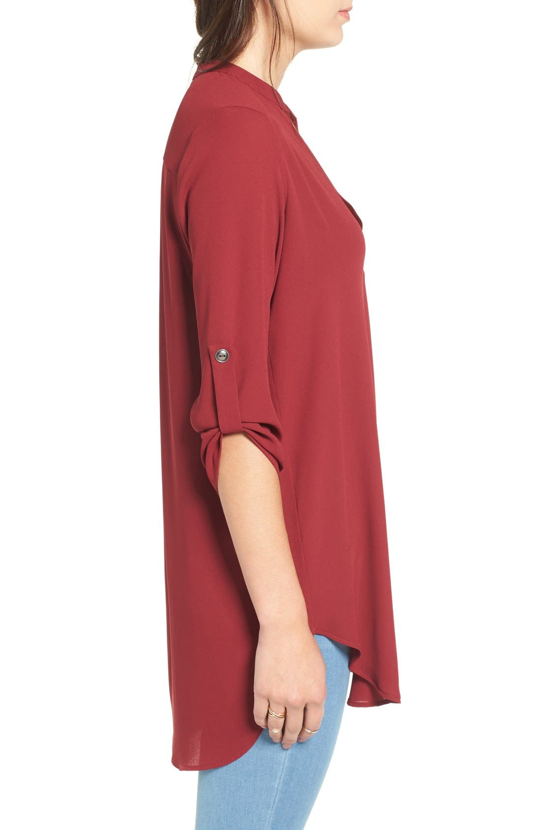 ,                             Perfect Roll Tab Sleeve Tunic,                             Alternate thumbnail 441, color,                             932