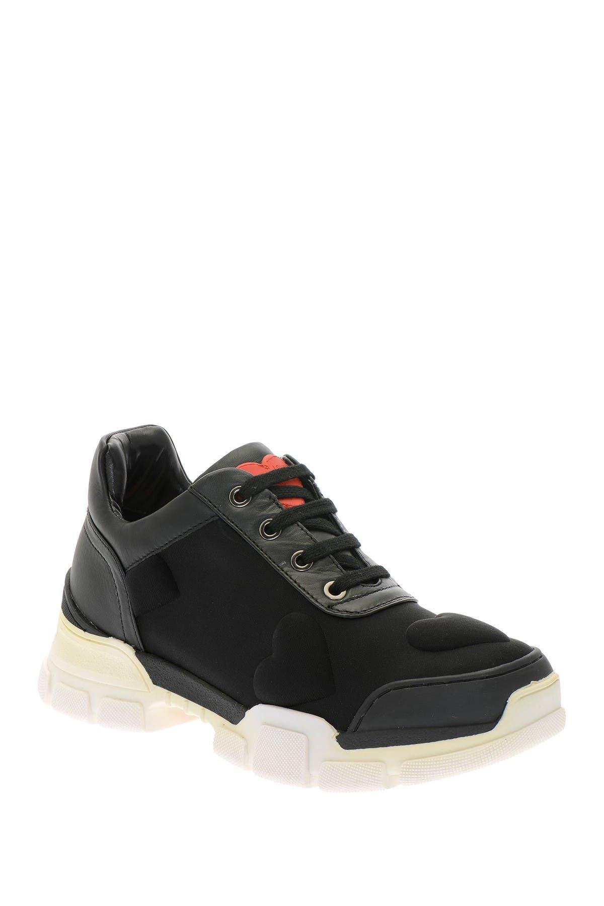 Image of LOVE Moschino Sleek Heart Embossed Outdoor Sneaker