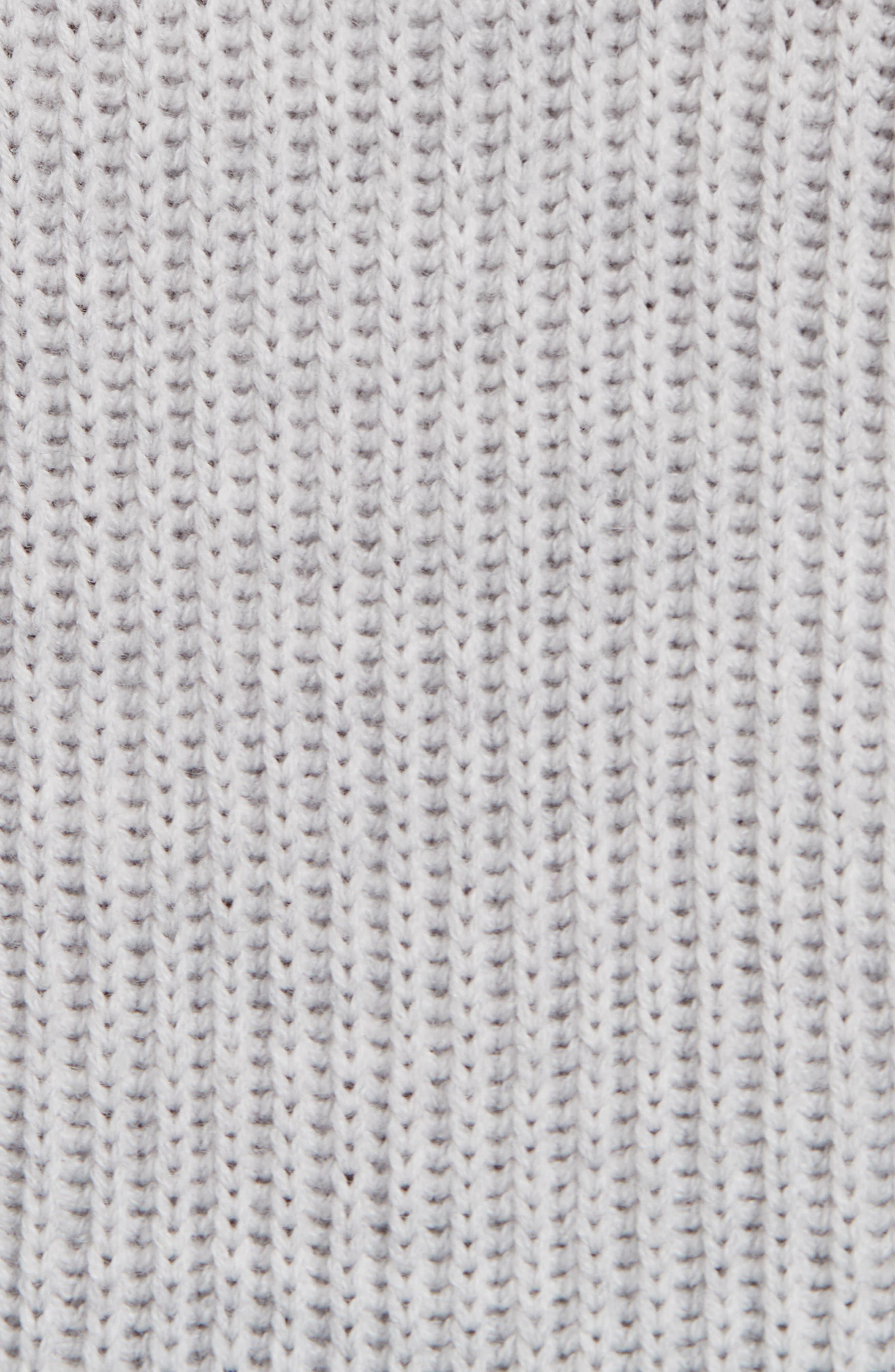 ,                             Jude Crystal Button Merino Wool Sweater,                             Alternate thumbnail 5, color,                             LIGHT GREY