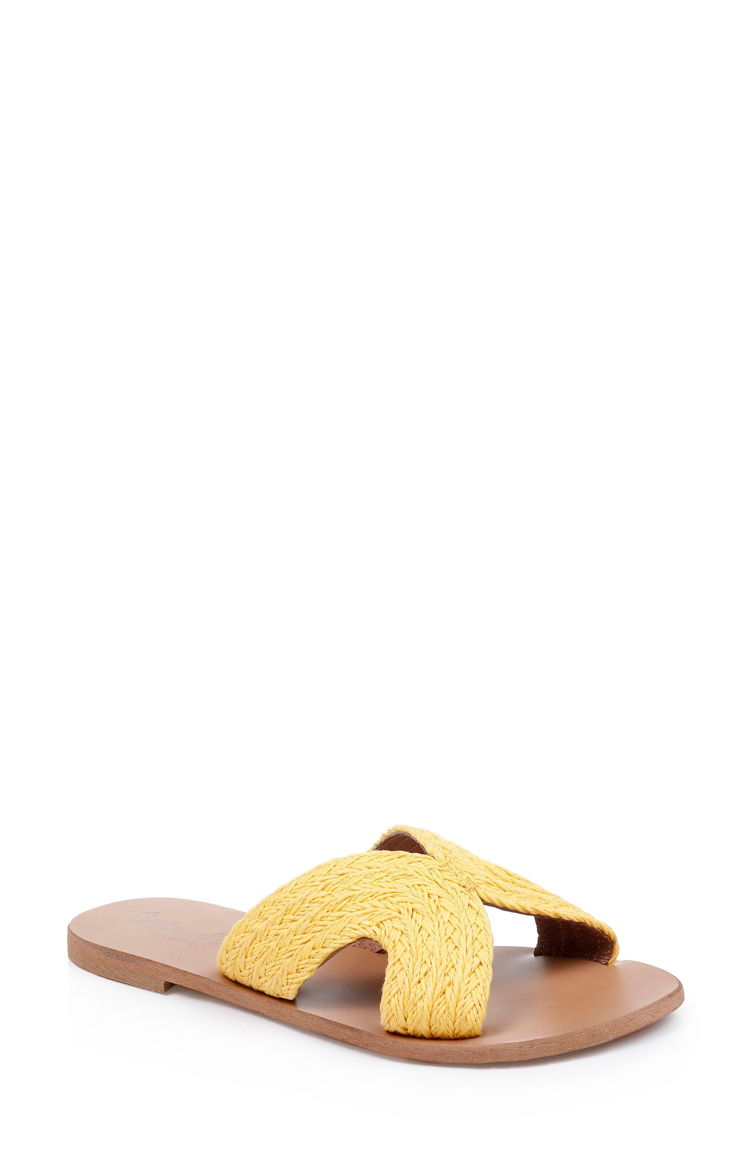 Splendid Sydney Woven Slide Sandal- Yellow