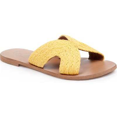 Splendid Sydney Woven Slide Sandal, Yellow