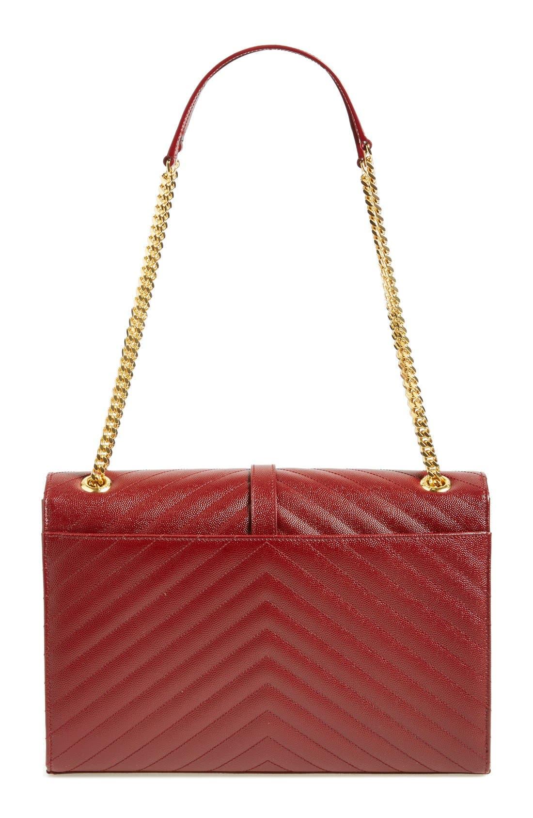 ,                             'Large Monogram' Grained Leather Shoulder Bag,                             Alternate thumbnail 53, color,                             930