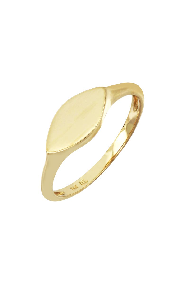 BONY LEVY 14K Gold Marquise Signet Ring, Main, color, YELLOW GOLD