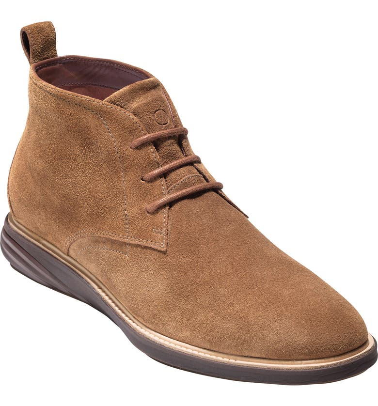 COLE HAAN GrandEvølution Water Resistant Chukka Boot, Main, color, BROWN SUEDE