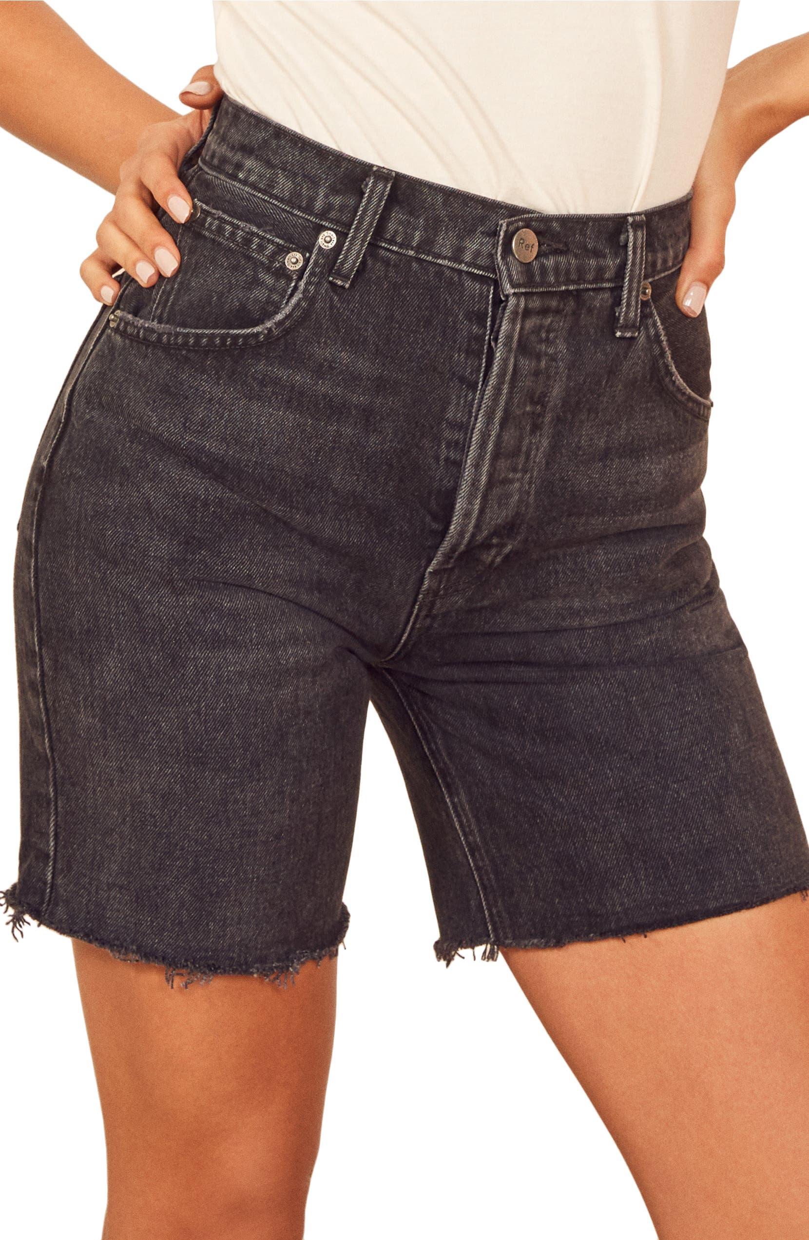 cb8ed9ed3 Reformation Allie Cutoff Denim Shorts | Nordstrom