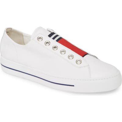 Paul Green Abby Laceless Sneaker - White