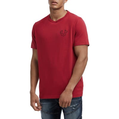 True Religion Brand Jeans Barbed Wire Logo T-Shirt, Red